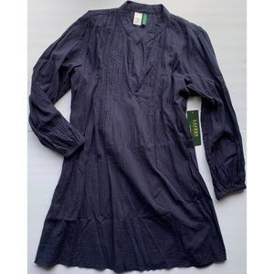NWT Lauren Ralph Lauren Cotton Tunic, M, Navy